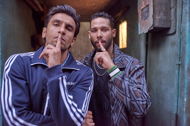 Siddhant Chaturvedi and Ranveer Singh in Gully Boy