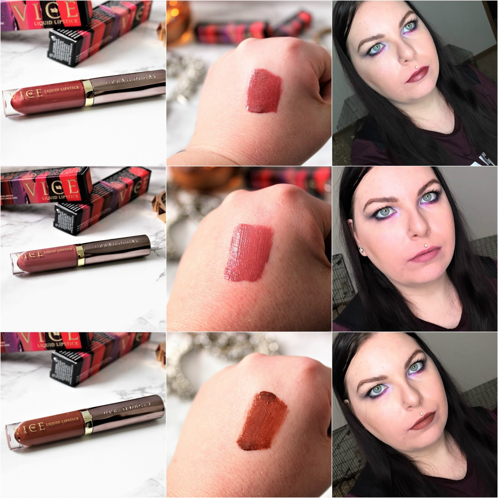 Urban Decay Vice Liquid Lipsticks amulet backtalk 1993