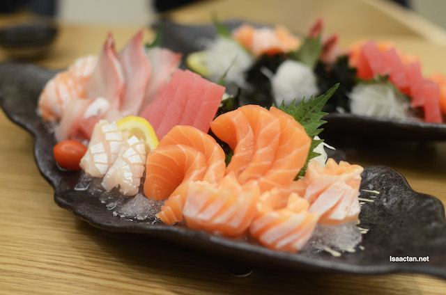 Sashimi Moriawase (Assorted Fish) @ RM138 for 6 kinds
