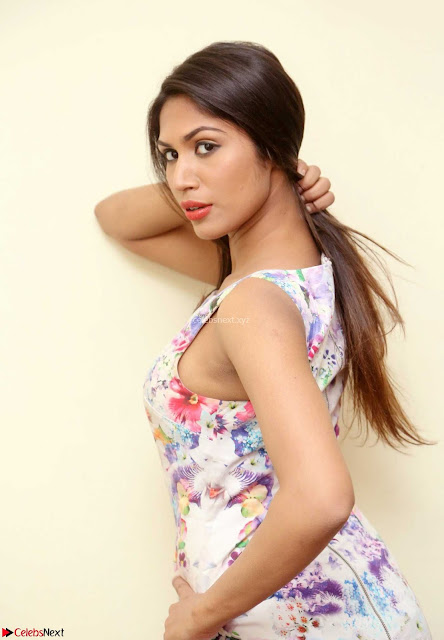 Nishi Gandha in Beautiful Sleeveless Deep neck Short Dress ~  Exclusive 003.jpg