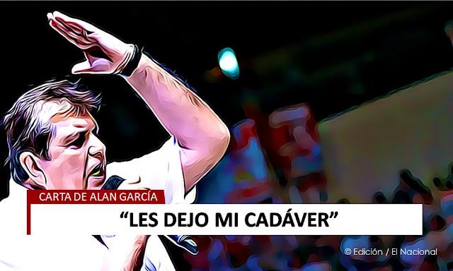 Carta de despedida Alan García Pérez