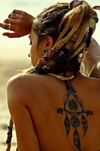 Dreamcatcher tatuagens nas costas