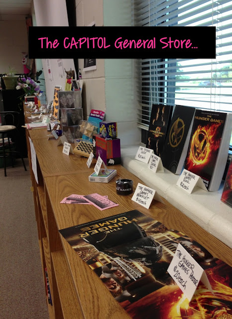 "The Capitol General Store: Students went shopping and spent their Panem ""cash"" on items."