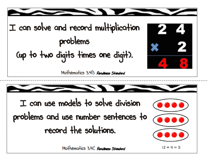 Third Grade Thinkers: Third Grade Objective Posters for
