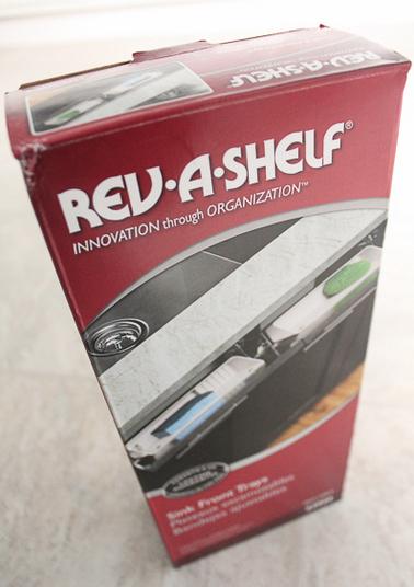 Rev-a-shelf kitchen sink tip-out tray