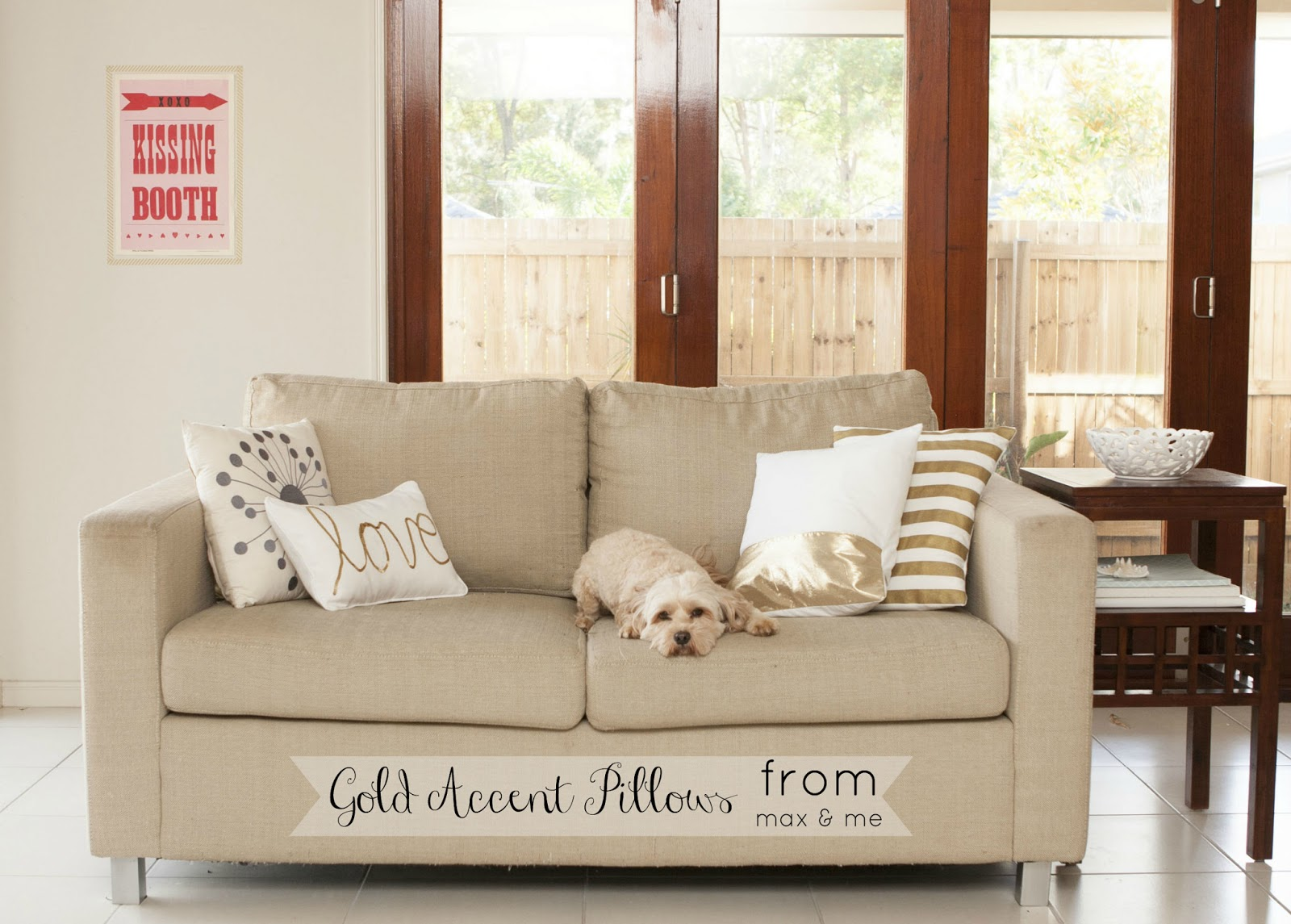 Max & Me: Easy Gold Accent Pillows