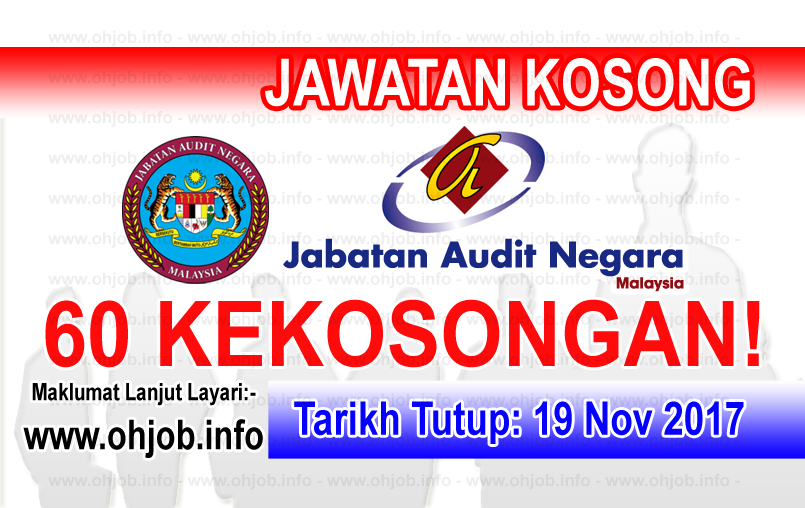 Jawatan Kerja Kosong Jabatan Audit Negara logo www.ohjob.info november 2017
