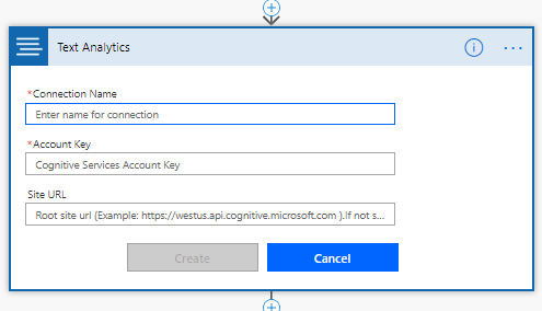 Provide Account Key and Endpoint URL of Text Analytics API