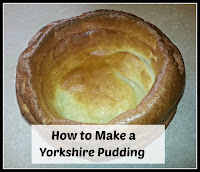 Single Yorkshire Pudding with title overlaid
