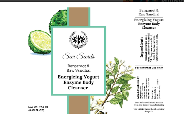 Seer Secrets Bergamot and Raw Sandal Energizing Yogurt Enzyme Body Cleanser - Product Review