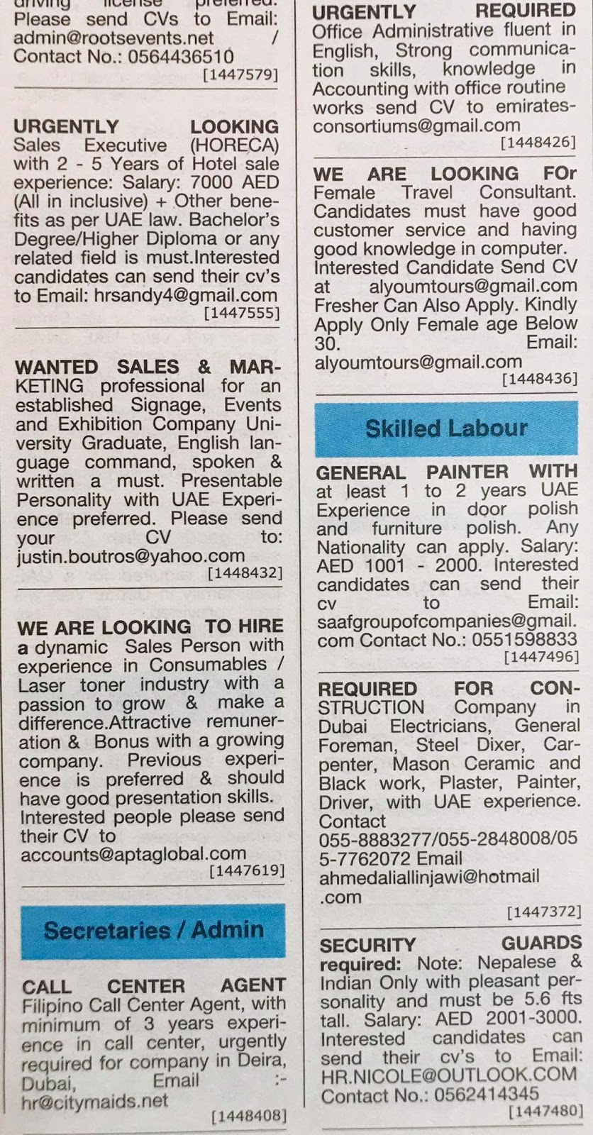 Various Categories jobs Available for UAE JOBS LOCAL HIRING-115