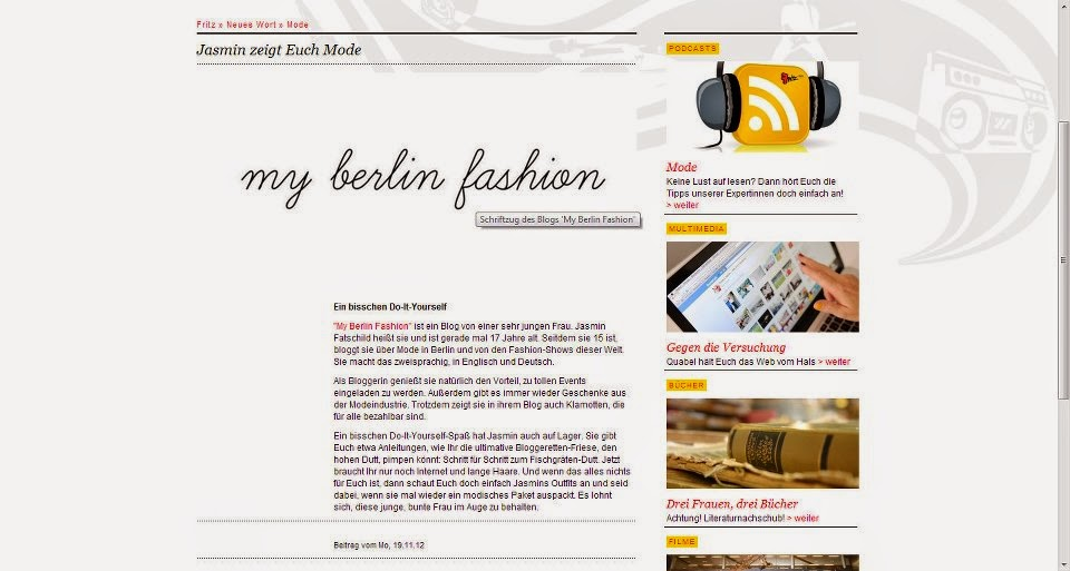 friz radio clipping myberlinfashion