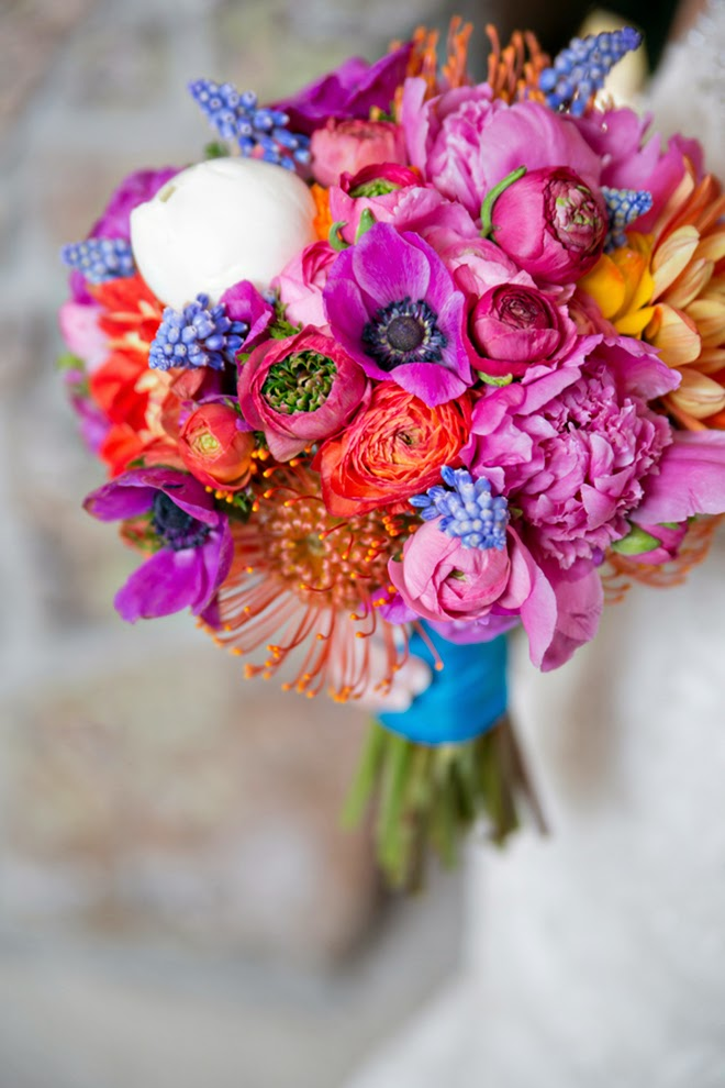 Colorful Winter Wedding Belle The Magazine