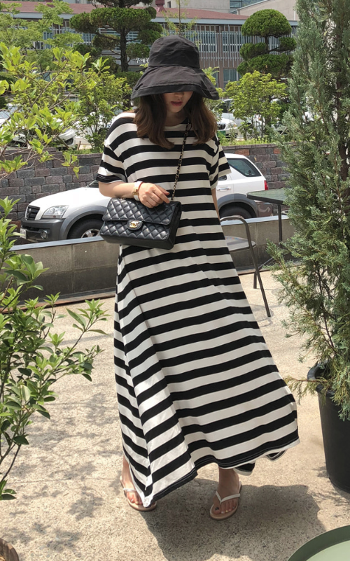 Striped Loose Fit Dress