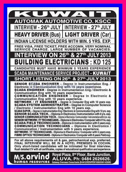 Automak Automotive Co Kuwait Large Vacancies Gulf Jobs