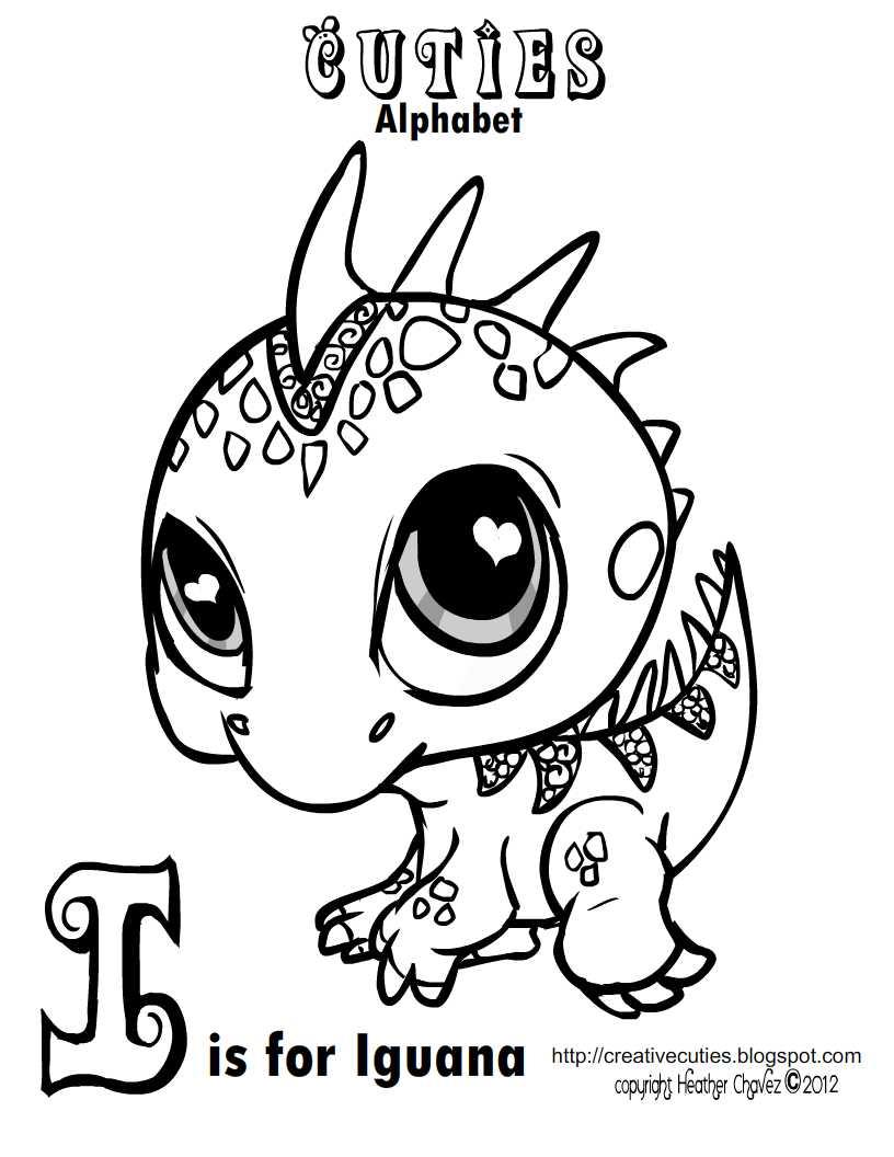 Creative Cuties Iguana Coloring Page