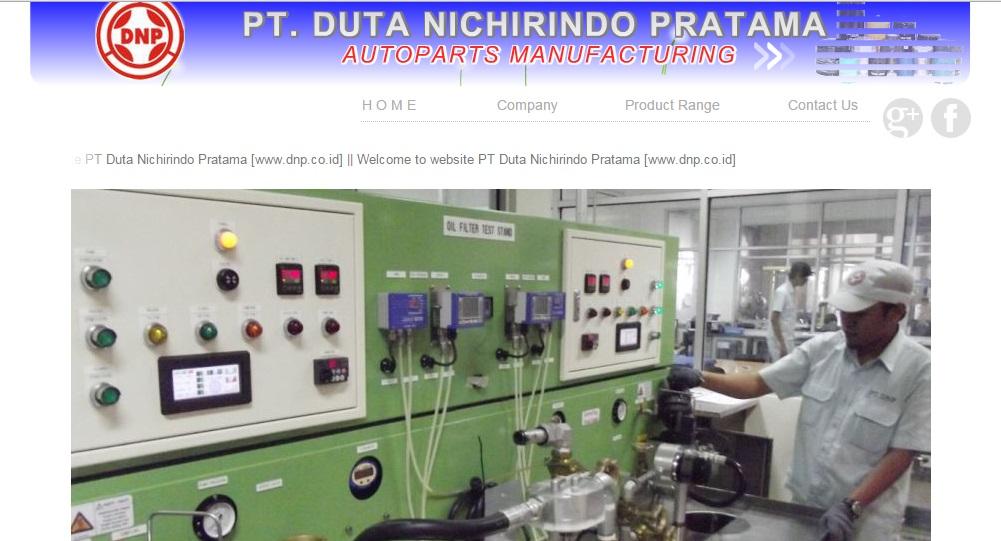 Lowongan Operator Produksi PT Duta Nichirindo Pratama (DNP)