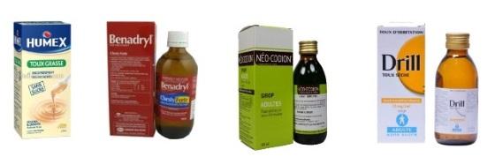 هناك عدة أنواع من الشراب المضاد للسعال