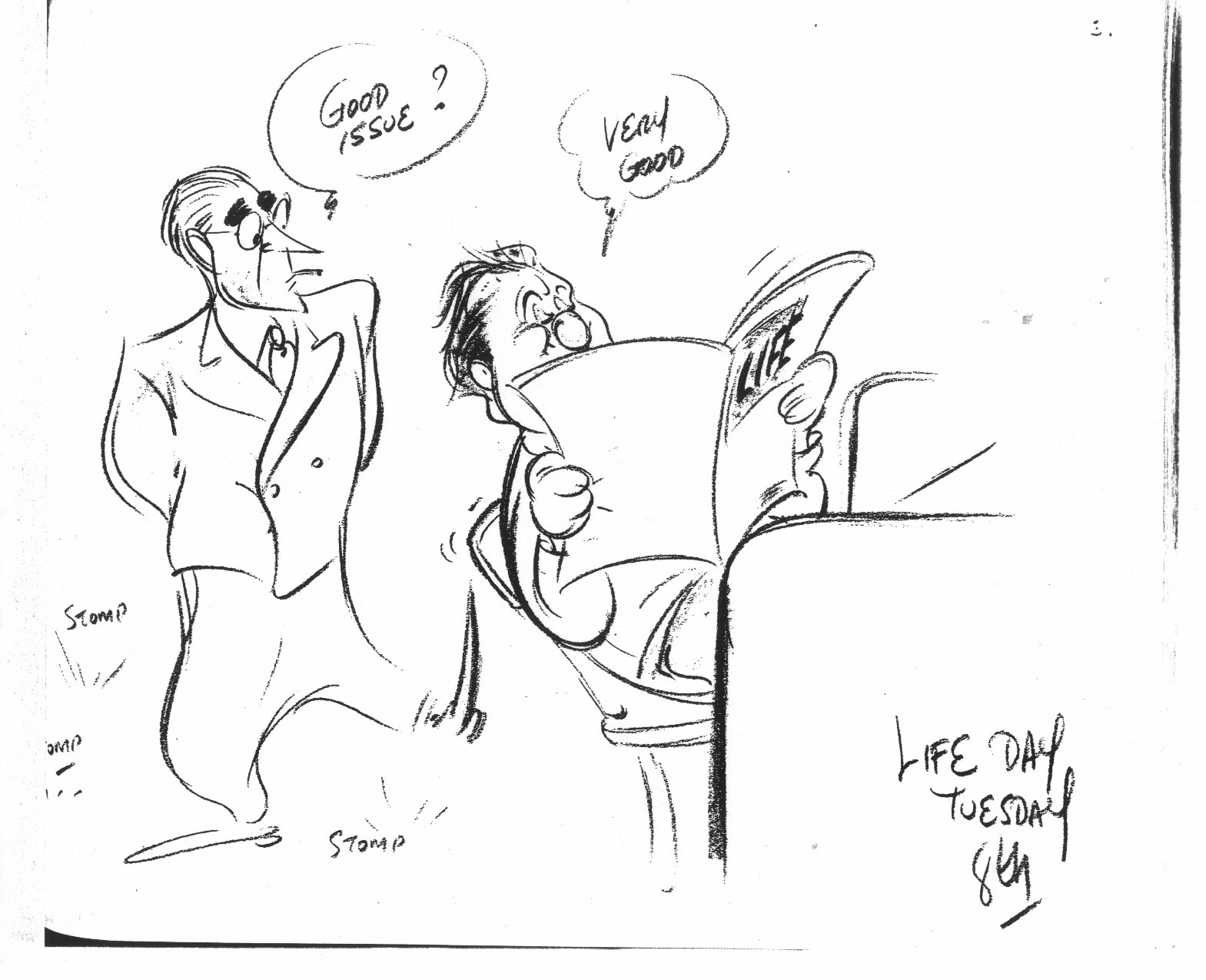 Filboid Studge: Irv Spence's Cartoon Diary: February 8, 1944