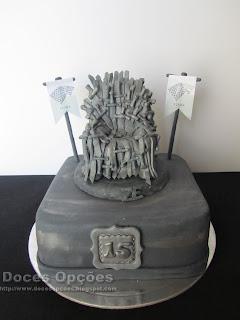 Bolo de aniversário Guerra dos Tronos