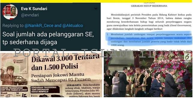 Eva Kusuma Sundari Dengan Berani dan Lugas Mengakui Adanya Pelanggaran Terkait Surat Edaran (SE) Soal Jumlah Tamu Perkawinan Putri Jokowi