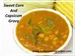 sweetcorn capsicum gravy