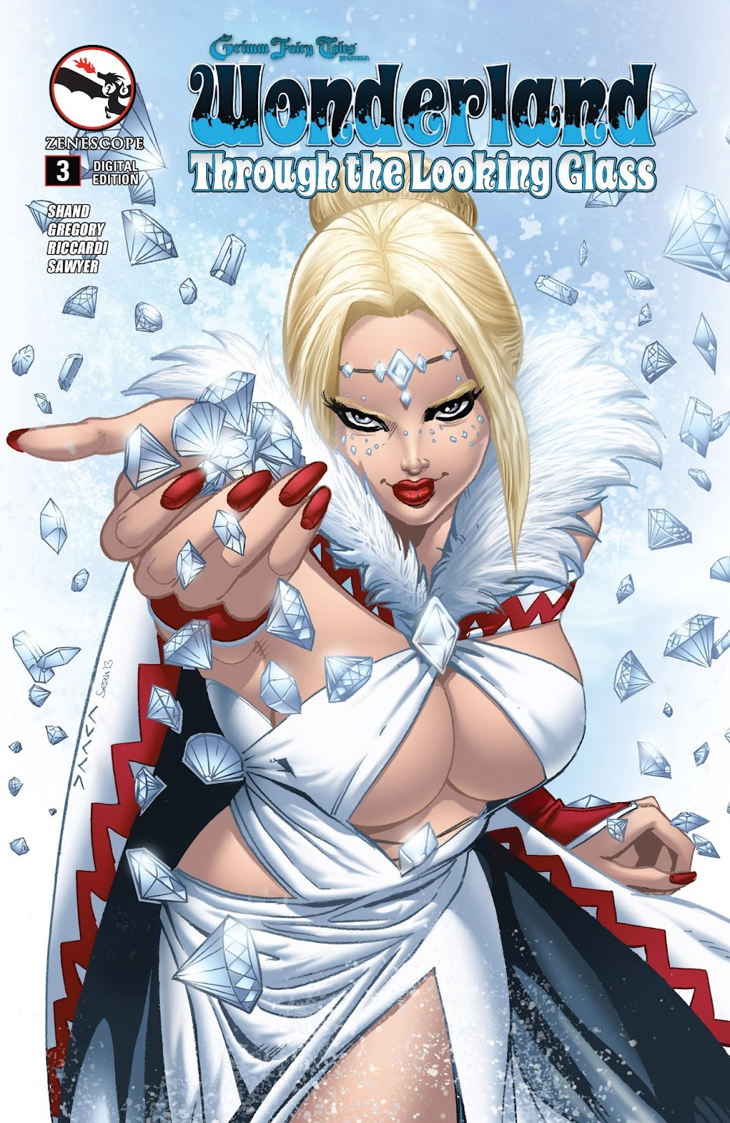 Cover C Grimm Fairy Tales Presents Wonderland Through the Looking Glass 2