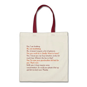 Knitting Conversation | Funny Tote Bag