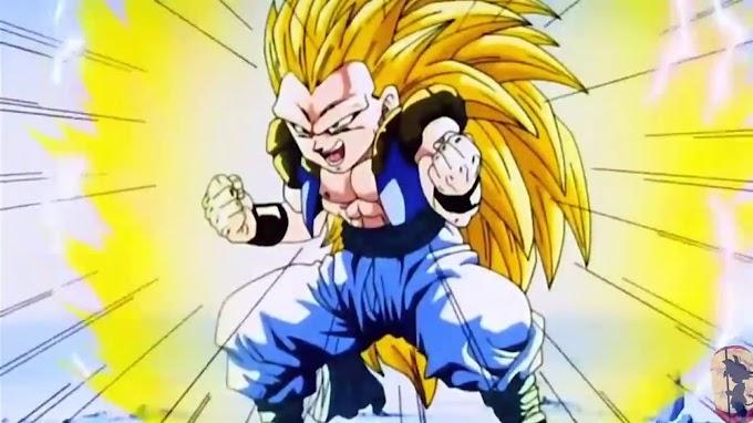 Gotenks se convierte en super sayayin 3 sorprende a Goku