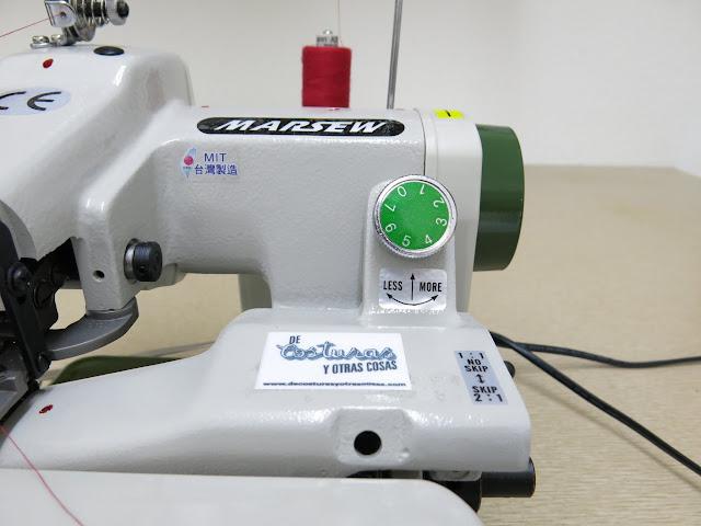 como ajustar la máquina de puntada invisible