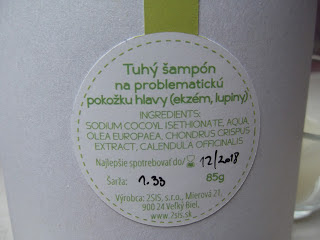 2 sis cosmetics tuhý šampón Pure - zloženie