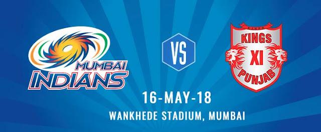 MI vs KXIP IPL Todays Match