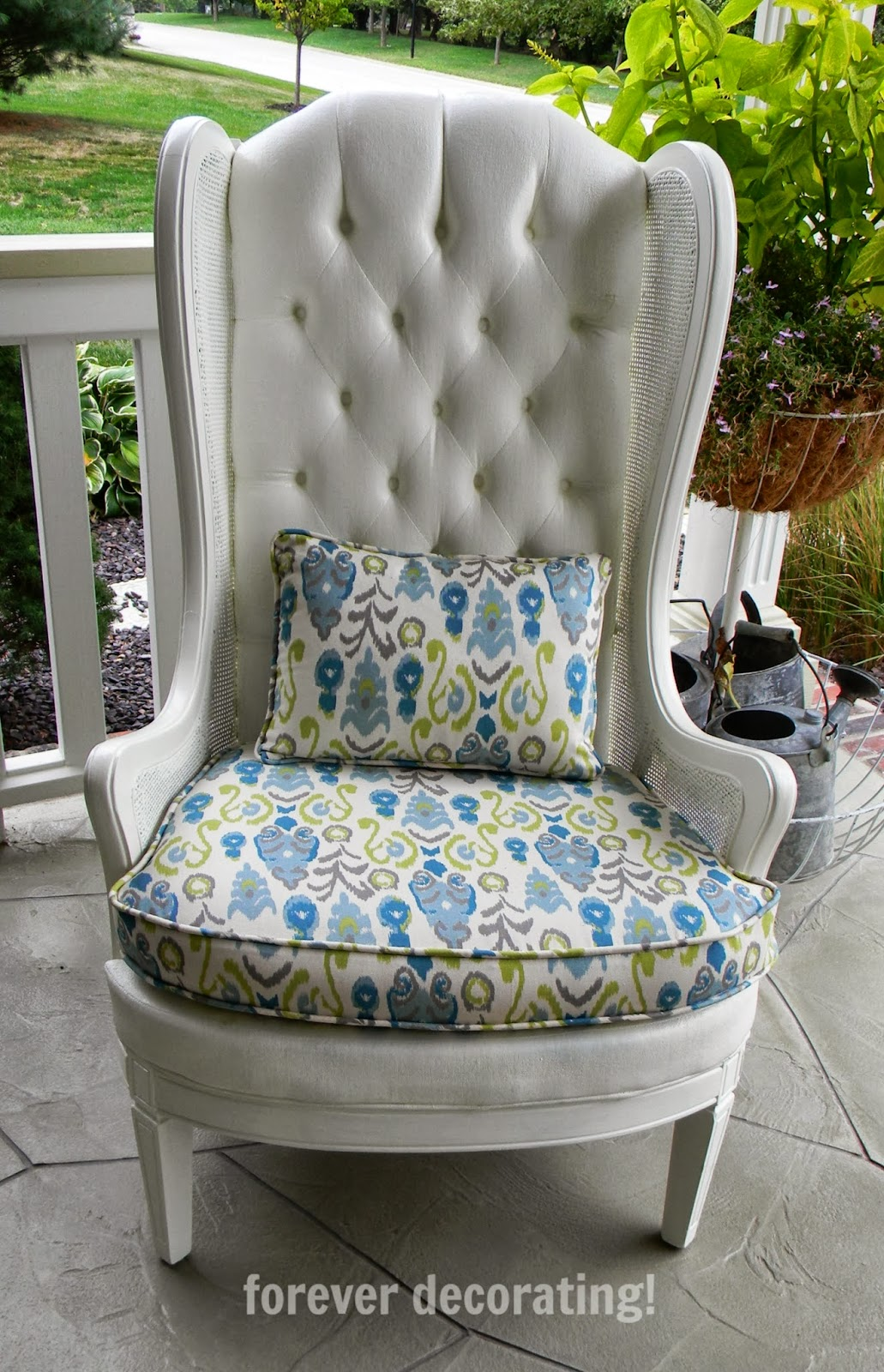 Forever Decorating!: Charming Painted Upholstered Chair