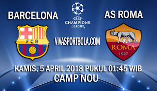 Prediksi Barcelona vs AS Roma 5 April 2018