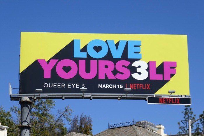Love Yours3lf Queer Eye season 3 billboard