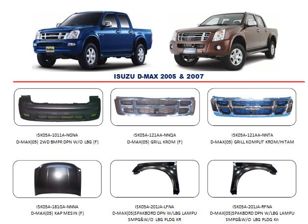 Bemper Isuzu D-Max 2005-2007