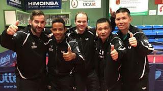 TENIS DE MESA - El UCAM Cartagena masculino también revalida el título liguero
