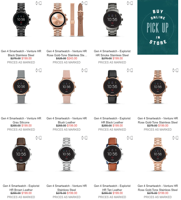Fossil smartwatch discounts