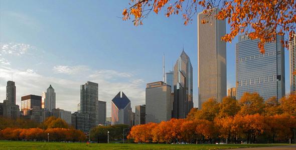 Clima de Outono em Chicago