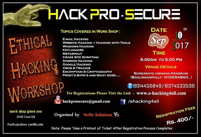 https://www.eventbrite.com/e/ethical-hacking-workshop-in-hyderabad-tickets-37298918068