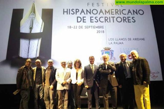 Los Llanos de Aridane acoge en septiembre el Festival Hispanoamericano de Escritores