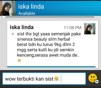 Testi Original Sinensa Beauty Slim Herbal Bpom