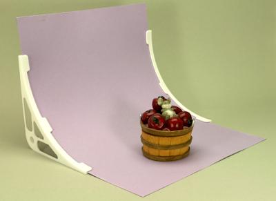 Hintergrund-Halter für Tabletop von vorne