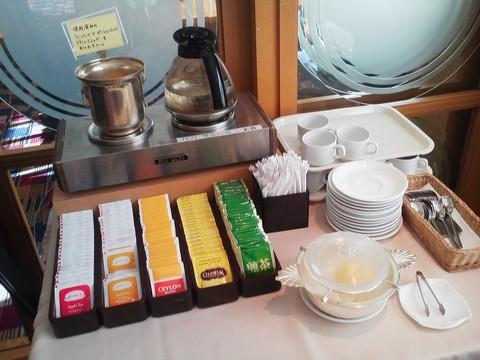 ドリンクコーナー:ティーバッグ オーセントホテル小樽カサブランカ