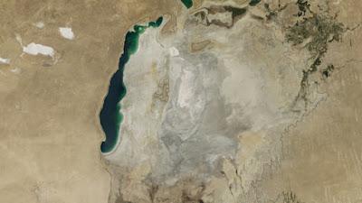 El Mar de Aral en el año 2014