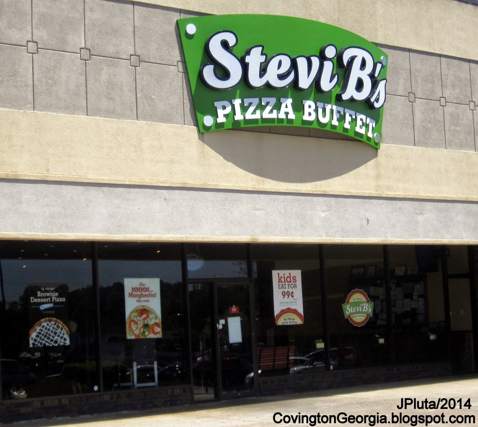 Stevi B S Pizza Covington Georgia Us Hwy 278 Entrance Buffet Restaurant All You Can Eat Pasta Salad Dessert Newton County