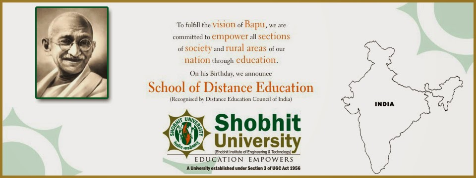 Shobhit University Distance Education Courses & Admission