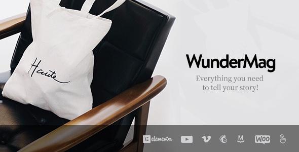 WunderMag v2.5.0 – A WordPress Blog / Magazine Theme