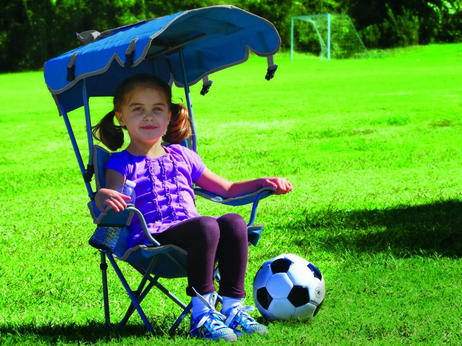 Kids Chair With Canopy Unique Covers For Wedding Portable Umbrella Kelsyus