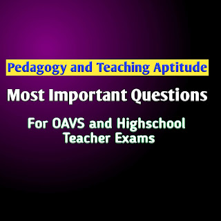 Pedagogy and Teaching Aptitude Questions